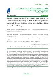 Floristic characterization of the ecotonal zone between the Gilbertiodendron dewevrei (De Wild) J. Leonard (Fabaceae) Forest and the semi-deciduous mixed forest in Mbiye island (Congo Basin, DR Congo)