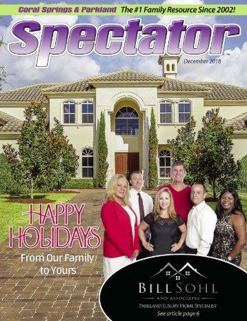 Spectator Magazine December  2018