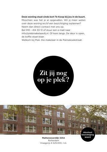 Te Koop bij PLEK Makelaardij: Mathenesserdijk 325A in Rotterdam (postcode 3026)!