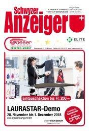 Schwyzer Anzeiger – Woche 48 – 30. November 2018