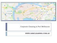 Corporate Cleaning in Port Melbourne