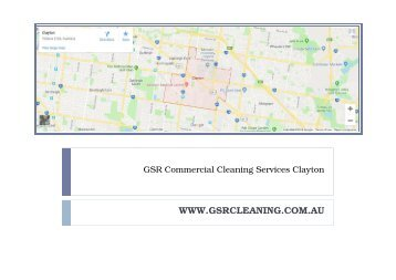 GSR Commercial Cleaning Services Clayton