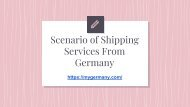 Scenario of Shipping Services From Germany
