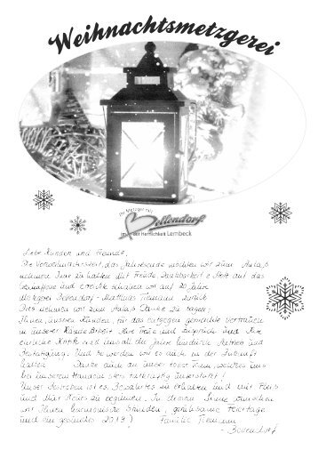 Weihnachten 2018 | Metzgerei Bellendorf Lembeck