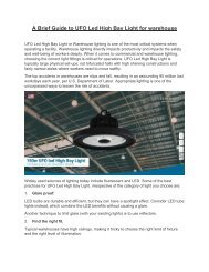 A brief guide to 150w ufo led high bay light for warehouse lighting