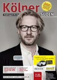 Kölner Süden Magazin November 2018