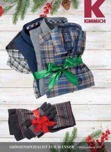 Kimmich Mode-Versand | Größenspezialist für Männermode | Weihnachten 2018