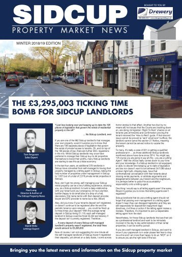 SIDCUP PROPERTY NEWS - Winter 2018/2019