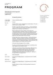 program for - Organisationen Danske Museer