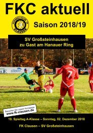 FKC Aktuell - 19. Spieltag - Saison 2018/2019