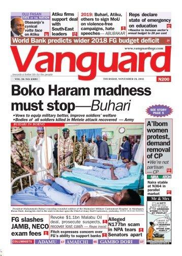 29112018 - Boko Haram madness must stop—Buhari