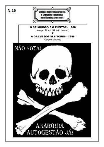 numero 26 - O CRIMINOSO É O ELEITOR e A GREVE DOS ELEITORES