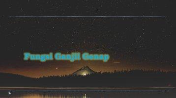 fungsi Ganjil & Genap