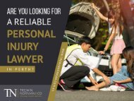 Are you looking for reliable personal injury lawyer in Perth?