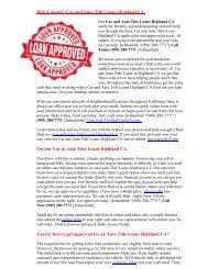 Get Auto Title Loans Highland CA | 909-280-7771