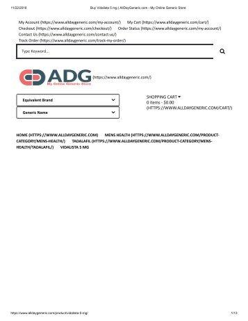 Buy Vidalista 5 mg _ AllDayGeneric.com