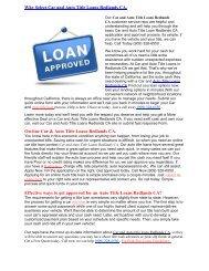 Get Auto Title Loans Redlands CA | 909-328-6550