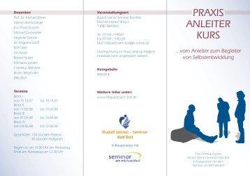 PRAXIS ANLEITER KURS