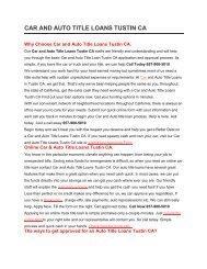 Get Auto Car Title Loans Tustin CA | 657-900-5010
