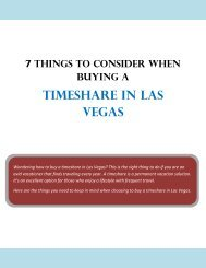 7 Things to Consider When Buying a Timeshare in Las Vegas