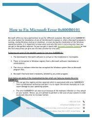How to Fix Microsoft Error 0x800B0101?