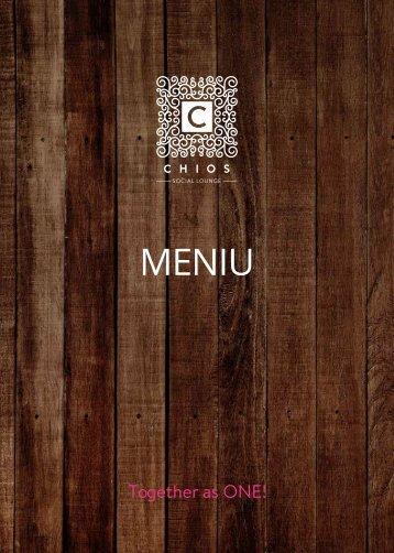 CHIOS Social Lounge - Meniu mâncare - Toamnă 2018