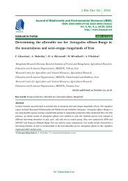 Determining the allowable use for Astragalus effusus Bunge in the mountainous and semi-steppe rangelands of Iran