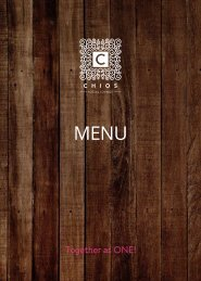 CHIOS Social Lounge - Food Menu (2018-2019)