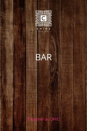 CHIOS Social Lounge - Bar menu (2018-2019)