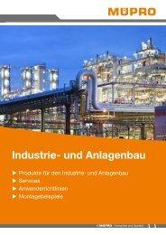 MÜPRO Broschüre Industrie- und Anlagenbau DE