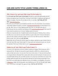 Get Auto Car Title Loans Yorba Linda CA | 657-363-3010