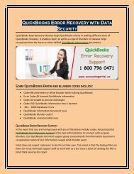 QuickBooks Error Recovery Support with Data Security
