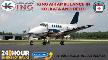 Get Foremost and Cheap King Air Ambulance in Kolkata and Delhi