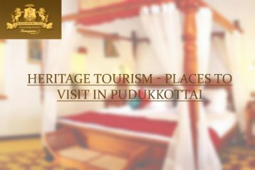 Places to see and visit in Pudukkottai