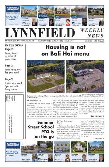 Lynnfield 11-29