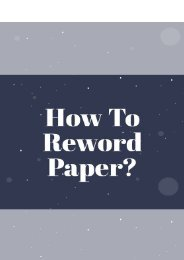 How to Reword Paper?