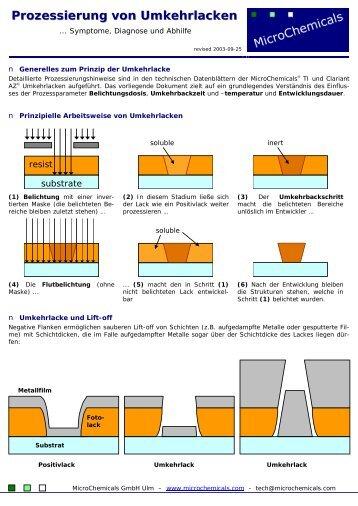 Prozessierung von Umkehrlacken - MicroChemicals GmbH