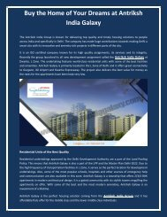 Buy the Home of Your Dreams at Antriksh India Galaxy