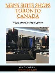Mens Suits Shops Toronto Canada | Call - (416) 364-2480 | clickfabio.com