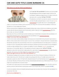 Get Auto Car Title Loans Burbank CA | 747-229-0982