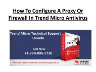 How To Configure A Proxy Or Firewall In Trend Micro Antivirus