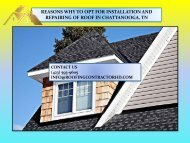 Roof Repair And Installation In Chattanooga