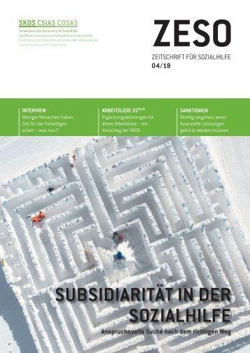 ZESO 4/18 − Subsidiarität