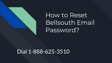How to Reset Bellsouth Email Password_
