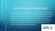 How to fix aol 5 error code Customer service