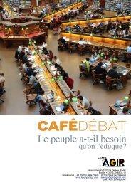 LTA Le peuple a t'il besoin qu'on l'éduque - Café Débat contradictoire