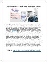 Herzolex Ultra : Ihren Stoffwechsel, das überschüssige Fett zu verbrennen