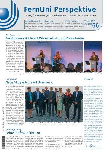 FernUni Perspektive Ausgabe 66, Winter 2018