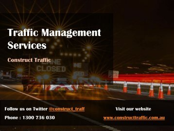 Traffic Management Services - Construct Traffic