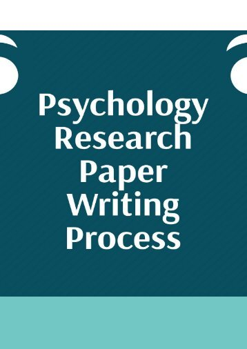 Psychology Research Paper Writing Process